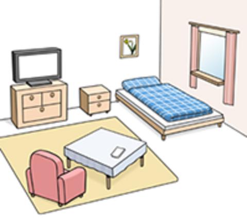 Zimmer in einem Wohnhaus