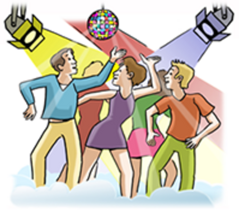 Junge Menschen tanzen in einer Disco