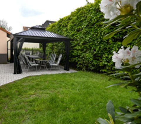 Garten des Wohnhauses in der Predöhlstrasse