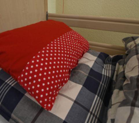 Detailaufnahme Bett
