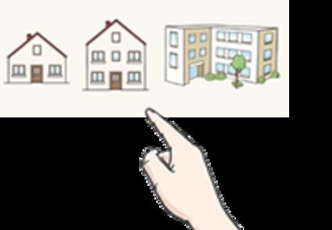 Abbildung von verschiedenen Wohnhäusern